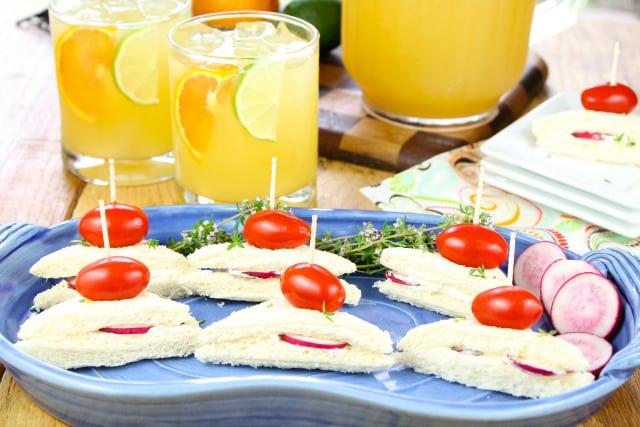 Zesty Punch Sippers & Radish Sandwiches from missinthektichen