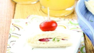 Zesty Punch Sippers and Radish Sandwiches