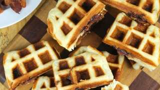 Apple Butter and Bacon Stuffed Waffles