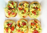 Pineapple Pico de Gallo Avocado Toasts Recipe from missinthekitchen.com