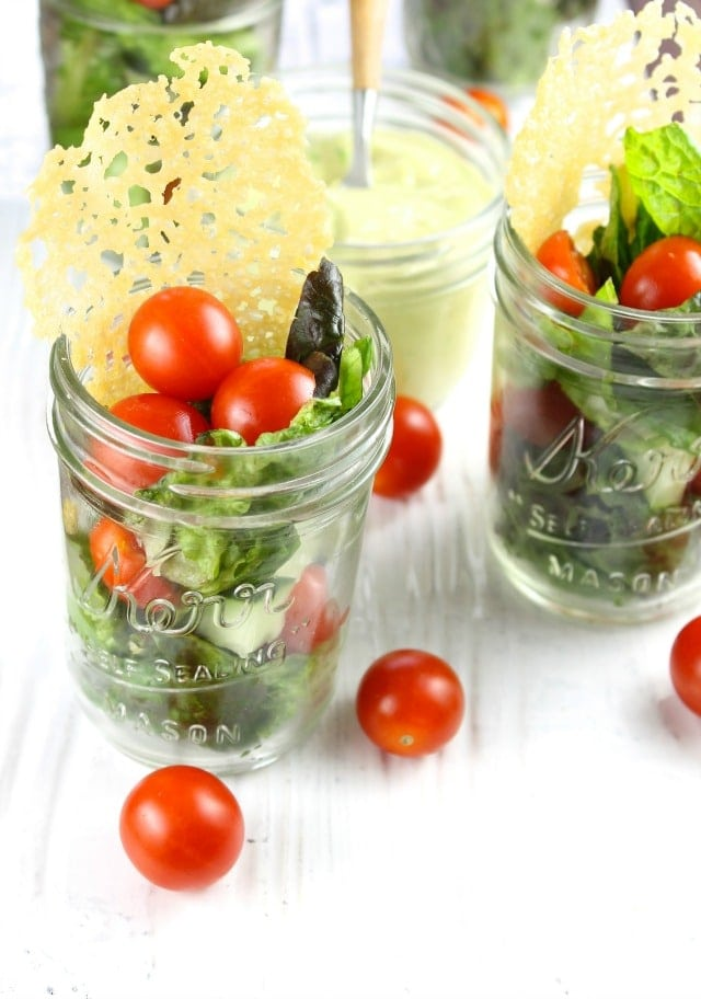 Summer Salads with Dubliner Cheese Crisps & Avocado Dressing Recipe From Miss in the Kitchen