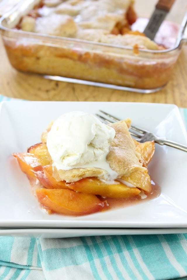 A great summer dessert recipe ~ Buttery Nectarine Squares for BHG Delish Dish from Miss in the Kitchen