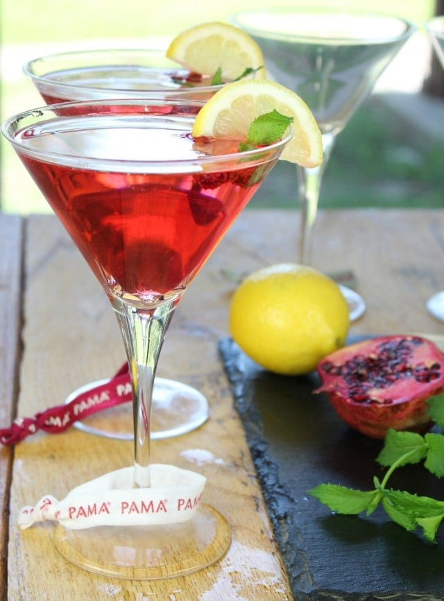 Celebrate Summer with a PAMA Summer Punch Cocktail ~ Recipe found at Miss in the Kitchen