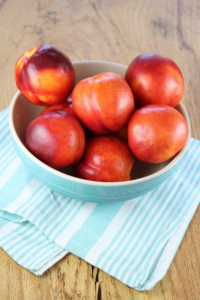 Nectarines for dessert squares MissintheKitchen