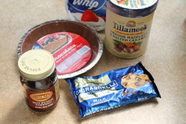 Salted Caramel Hazelnut Ice Cream Pie Ingredients  missinthekitchen