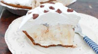 Salted Caramel Hazelnut Ice Cream Pie from Miss in the Kitchen