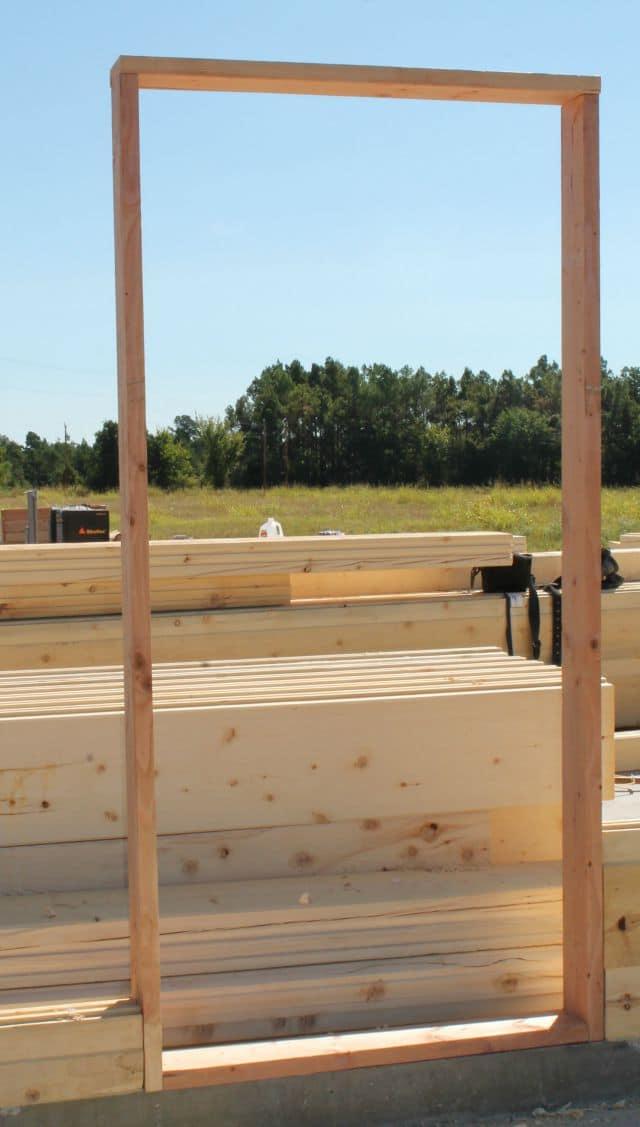 Door Frame for Log Cabin missinthekitchen #LogCabinSaturday
