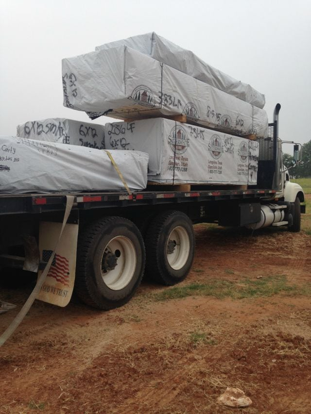 Log delivery for Log Cabin  missinthekitchen #LogCabinSaturday