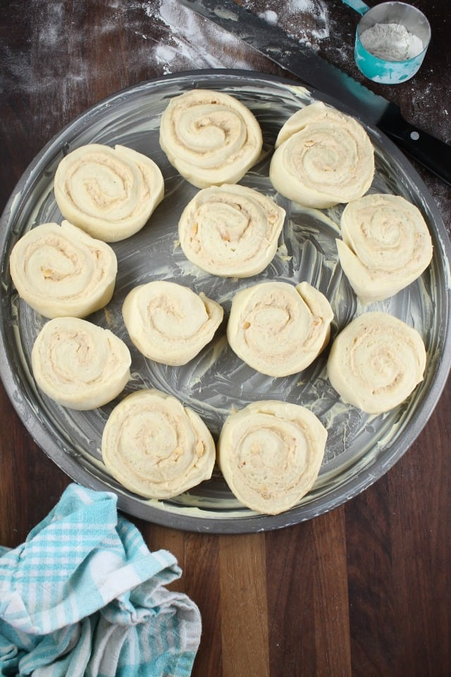 Ready for Rising Peanut Butter Sweet Rolls from missinthekitchen