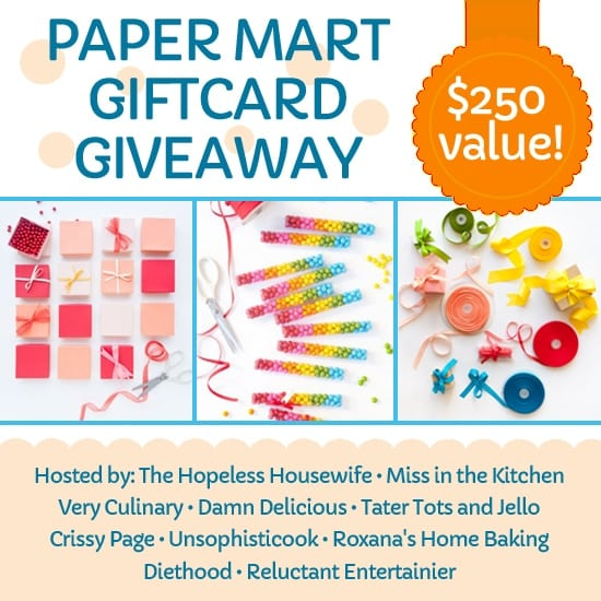 Enter to win a $250 Gift Card to Paper Mart from Miss in the Kitchen