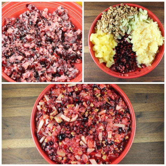 Mixing up Cranberry Salad for the holidays Miss in the Kitchen