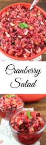 Holiday Perfect Cranberry Salad Recipe found at Miss in the Kitchen