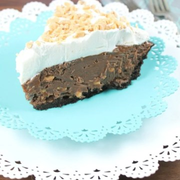Milk Chocolate and Toffee Fudge Pie for Chocolate Chocolate and More from Miss in the Kitchen