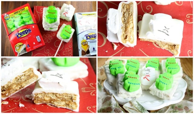 Peeps White Chocolate Peanut Butter Cookie Sandwiches #Christmas ~ Miss in the Kitchen