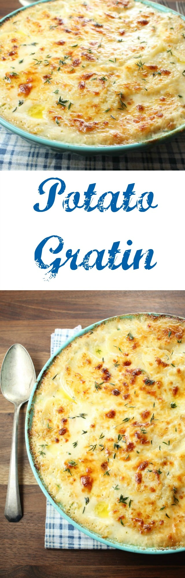 The perfect side dish for any meal! Potato Gratin Recipe found at Miss in the Kitchen