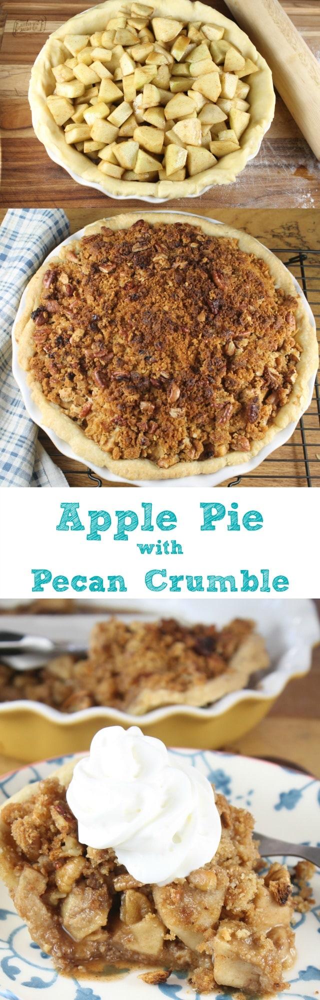 Apple Pie with Pecan Crumble Recipe found at missinthekitchen.com