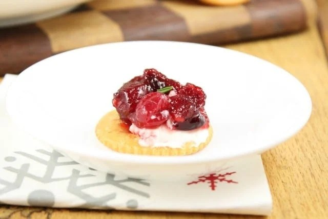 Cranberry Dip Recipe ~ Easy Holiday Appetizer ~ Miss in the Kitchen
