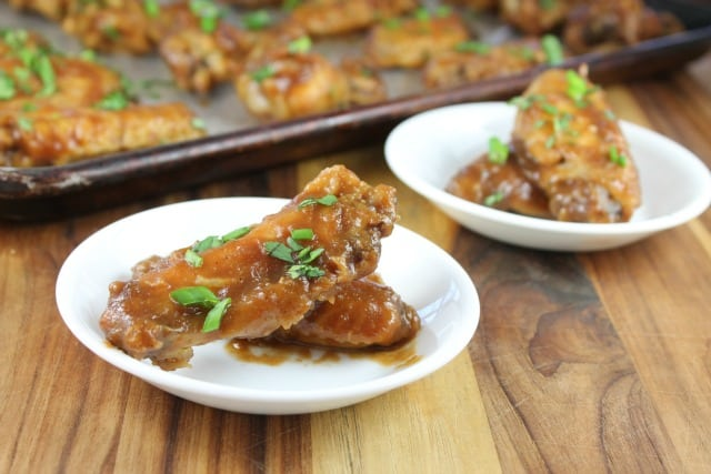 Musselman's Apple Butter is the key ingredient in these Asian Chicken Wings Recipe from Miss in the Kitchen