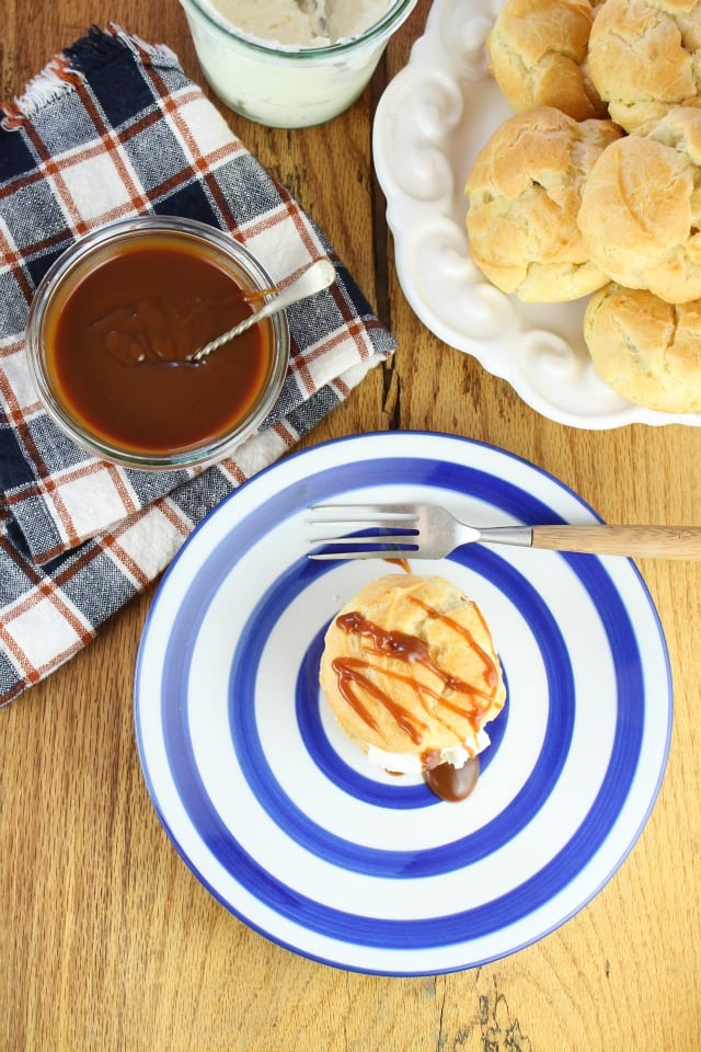 Make this Salted Caramel Sauce in less than 15 minutes! It will elevate your favorite desserts! Recipe at MissintheKitchen.com