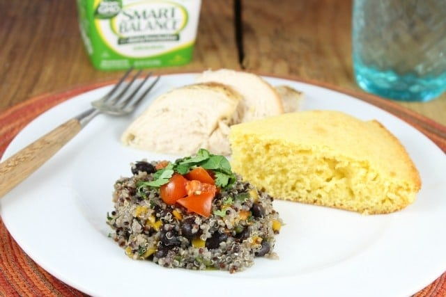 Southwest Quinoa Recipe with Smart Balance from MissintheKitchen