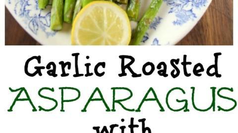 Roasted Garlic Asparagus with Lemon Sauce