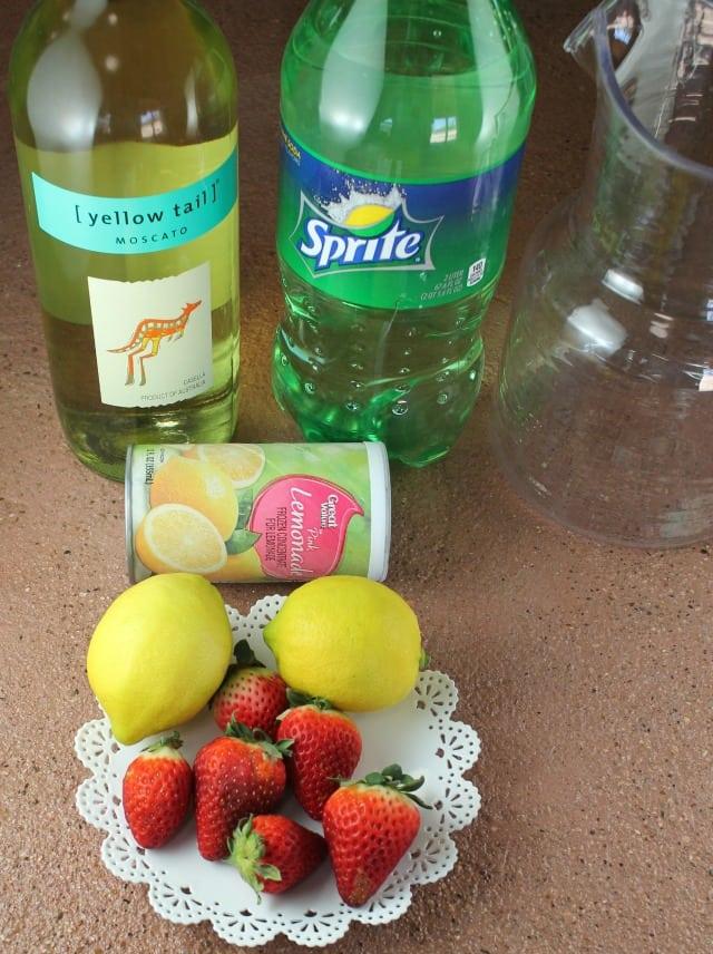 Ingredients for Sarasota Lemonade Cocktail ~ MissintheKitchen.com