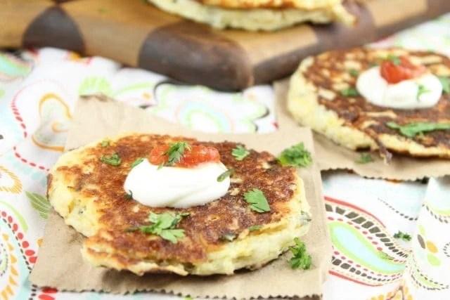 One of my favorite sides! Tex Mex Potato Pancake Recipe from MissintheKitchen.com