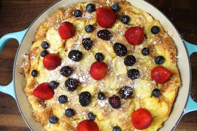 Buttermilk French Toast Casserole ~ Overnight Recipe ~ MissintheKitchen.com