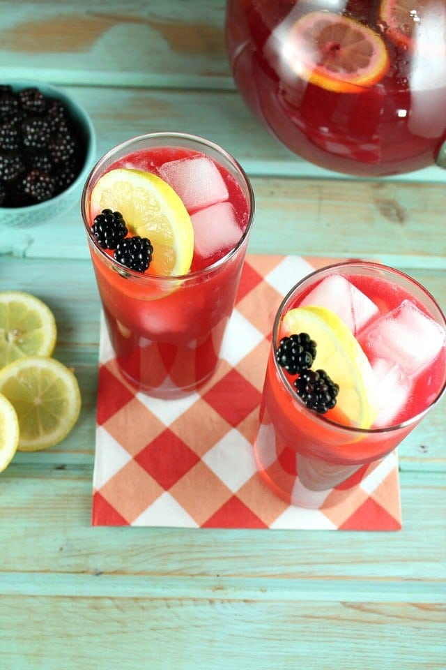 Blackberry Lemonade Recipe from MissintheKitchen