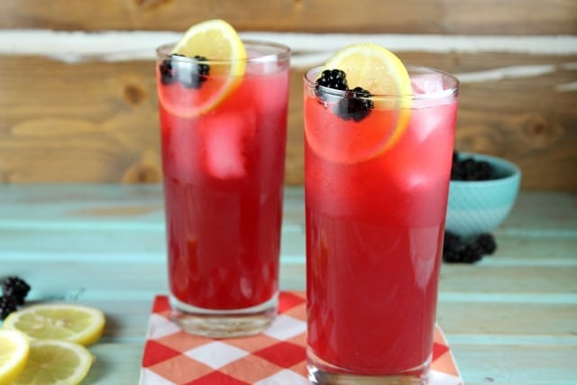 Blackberry Lemonade Recipe ~ Easy and delicious for summer! From MissintheKitchen.com