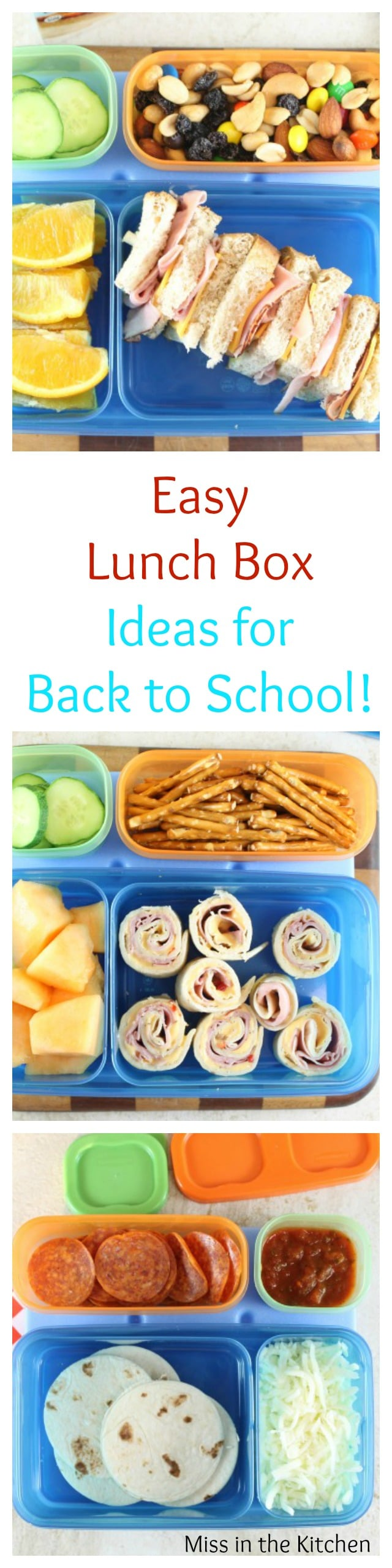 Easy Lunch Box Ideas with Rubbermaid LunchBlox Ideas from MissintheKitchen.com