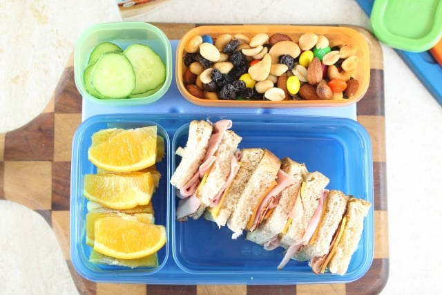 Sandwich on a Stick Easy Lunch Box Ideas from Miss in the Kitchen for Rubbermaid LunchBlox #ad