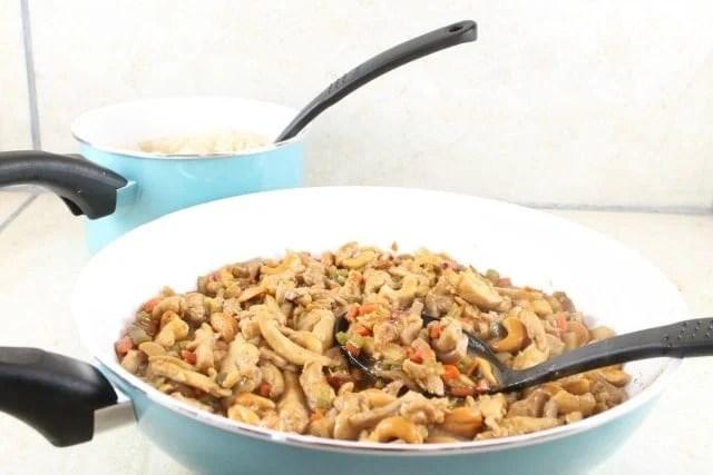 Kung Pao Chicken Recipe From MissintheKitchen #TeamFarberware #MyFamilyCooks #ad