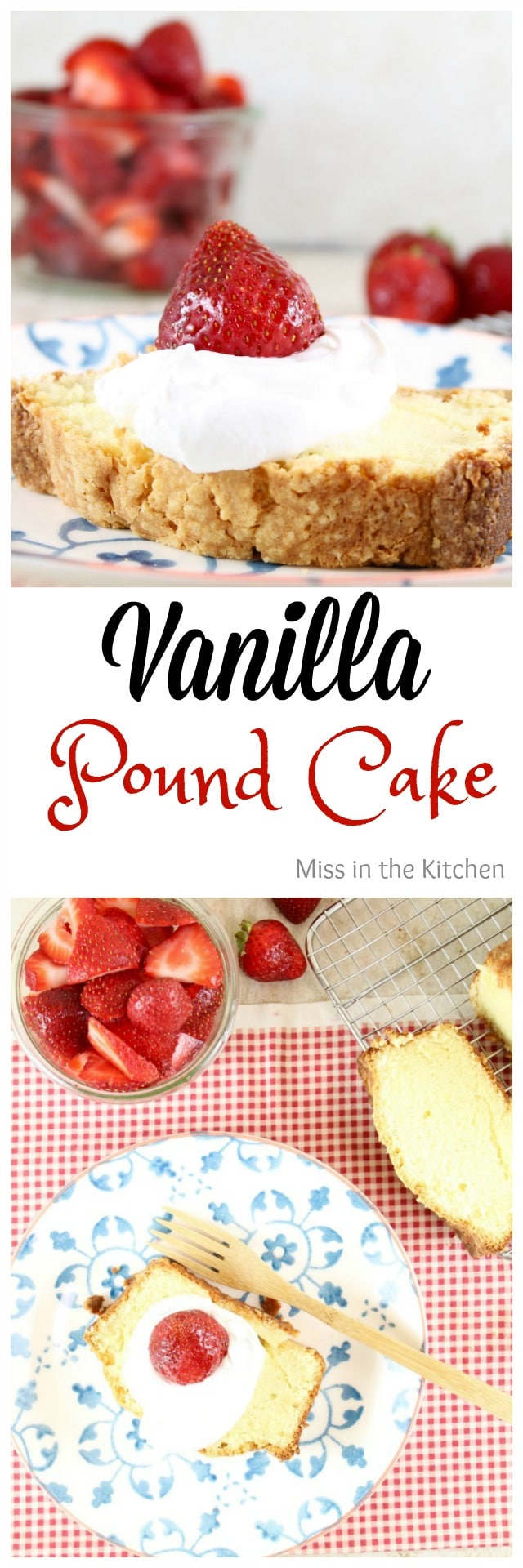 Vanilla Pound Cake Recipe from Fast and Easy Five Ingredient Recipes ~ MissintheKitchen.com #SweetPhiCookbook