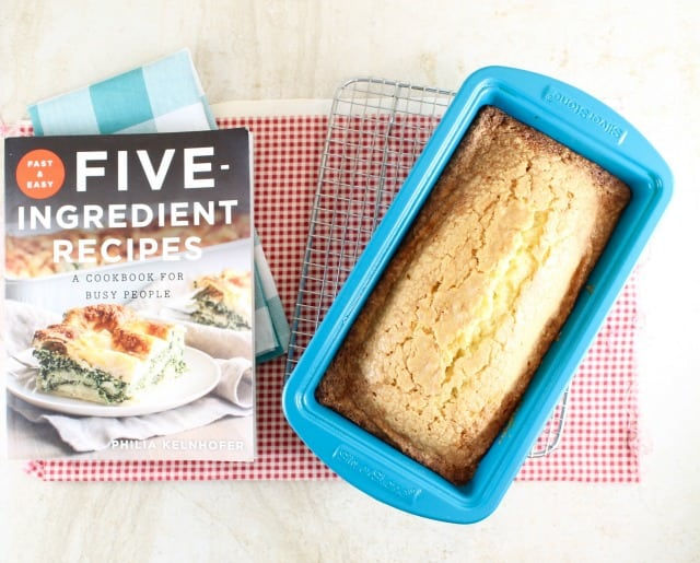 Vanilla Pound Cake Recipe from Fast & Easy 5- Ingredient Recipes ~ MissintheKitchen