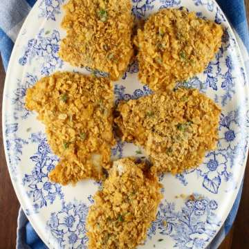 Oven Fried Chicken Dinner Recipe from MissintheKitchen.com #ad
