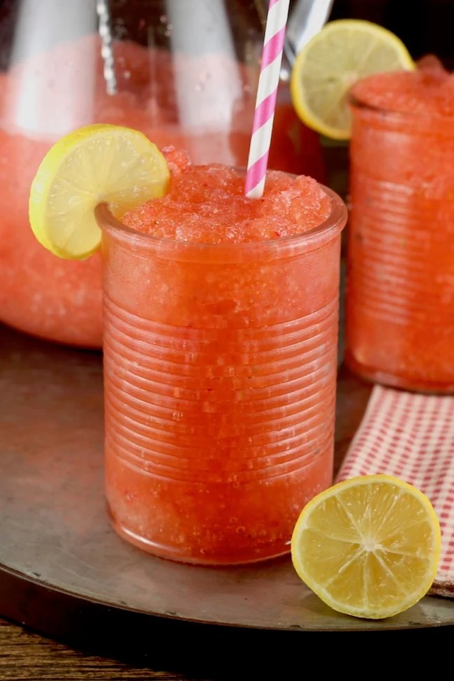Strawberry Lemonade Moscato Slushie party drink