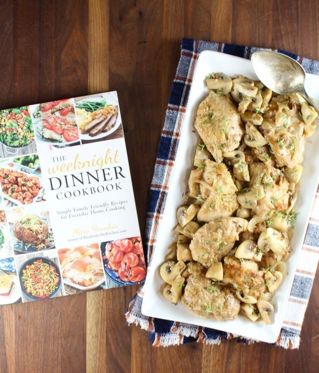 Creamy Balsamic Chicken Skillet Meal from The Weeknight Dinner Cookbook ~ MissintheKitchen
