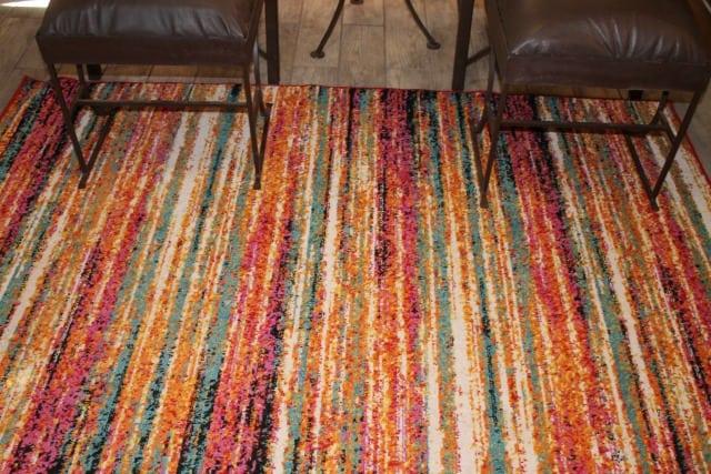Log Cabin Living Room ~ Change Your Rug Change Your Room ~ MissintheKitchen #ad