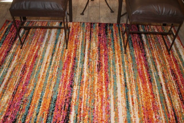 Log Cabin Living Room ~ Change Your Rug Change Your Room ~ MissintheKitchen #ad