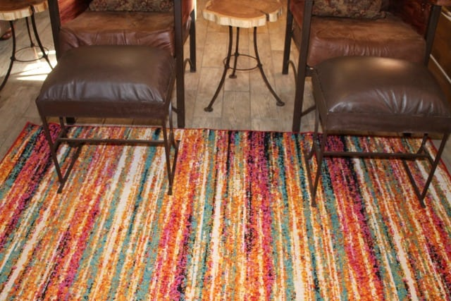 Change Your Rug Change Your Room Log Cabin Update from MissintheKitchen.com with Wayfair #ad