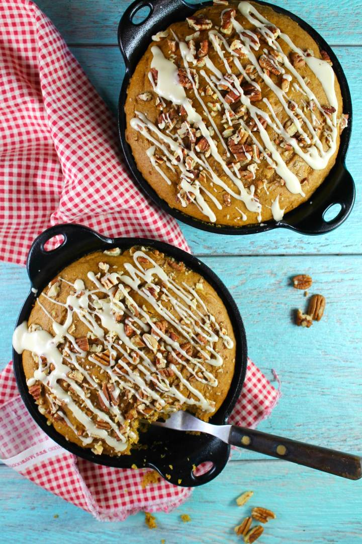 Pumpkin Spice Coffee Cake with Maple Drizzle Recipe from MissintheKitchen.com