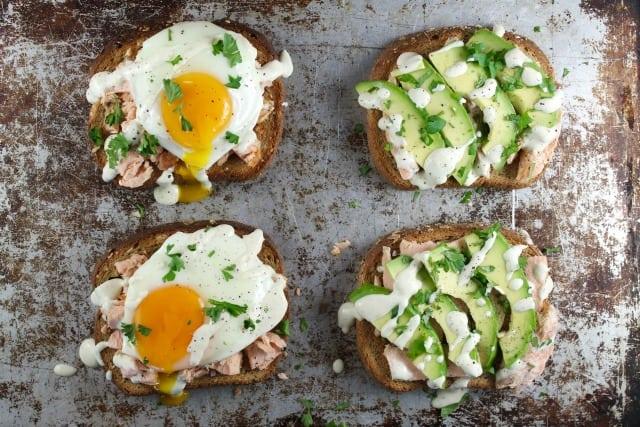 Salmon Toast 2 Ways Recipes from MissintheKitchen with Pepperidge Farm #ad