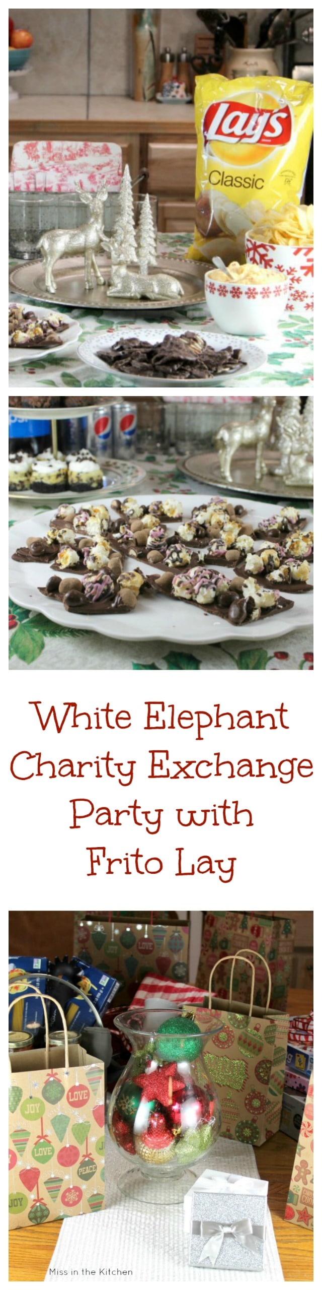 White Elephant Charity Exchange Party from MissintheKitchen with Frito Lay #ad