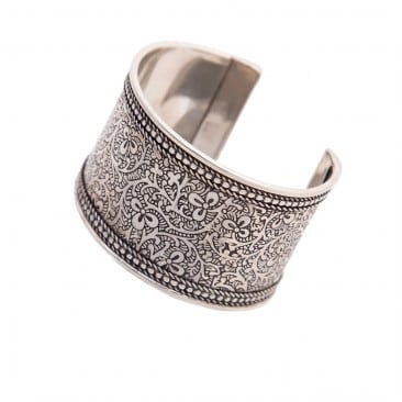 Silver Cuff Bracelet from World Vision Catalog ~ MissintheKitchen.com