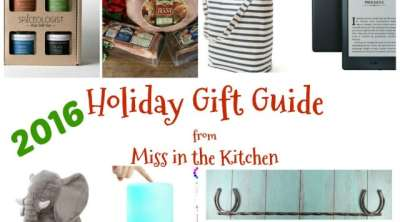 2016 Holiday Gift Guide ~ Unique and creative gifts for everyone on your Christmas list! From MissintheKitchen.com