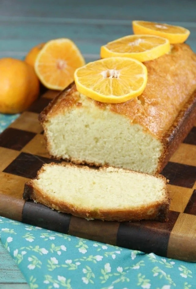 Orange Glazed Almond Bread Recipe is perfect to bake and share! From MissintheKitchen.com