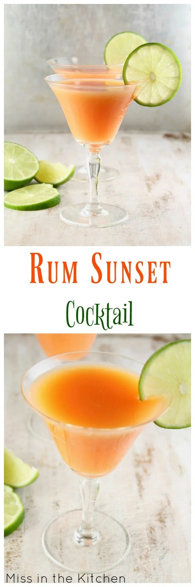 Rum Sunset Cocktail Miss In The Kitchen