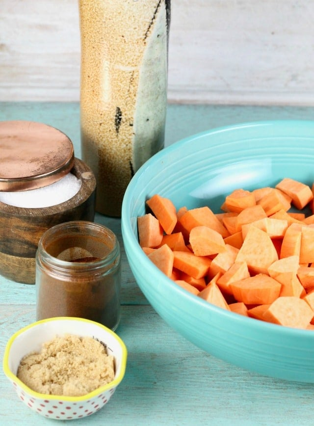Ingredients for Chipotle Roasted Sweet Potatoes Recipe