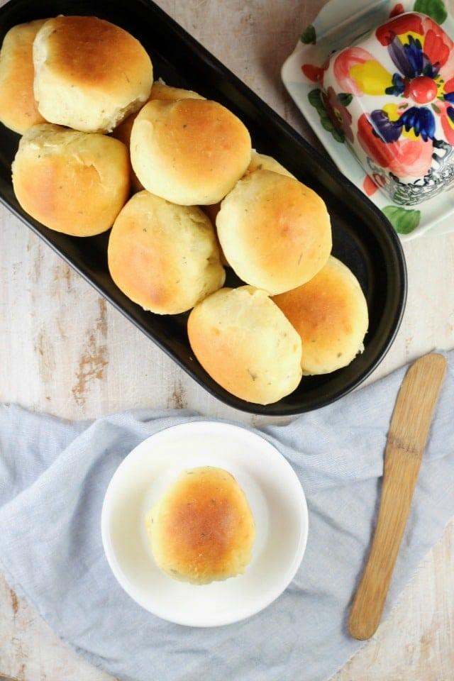 Buttermilk Ranch Dinner Rolls Recipe from MissintheKitchen #sponsored by Red Star Yeast